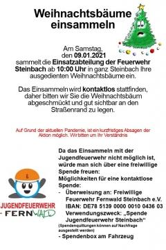 einsammeln-weihnachtsbaeume-fernwald-steinbach