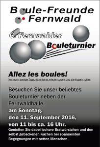 6. Fernwalder Bouleturnier