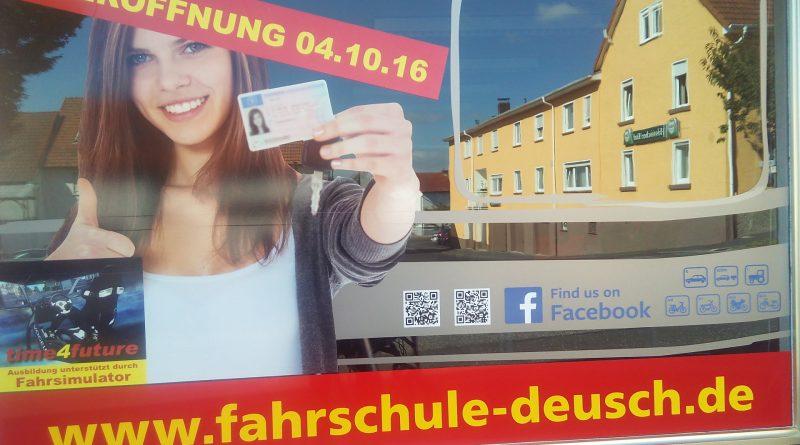 Neueröffnung Fahrschule Deusch Steinbach