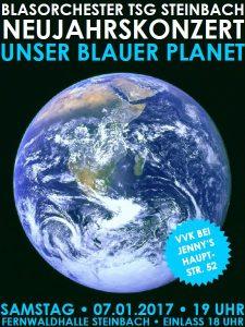 """Neujahrskonzert """"Unser blauer Planet"""" des Blasorchester der TSG Steinbach"""
