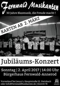 Jubiläumskonzert Fernwald Musikanten