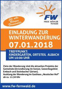 Freie Wähler Fernwald laden zur Winterwanderung