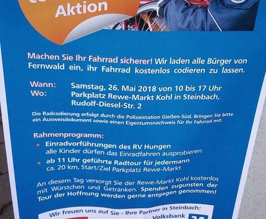Fahrradcodierung Steinbach