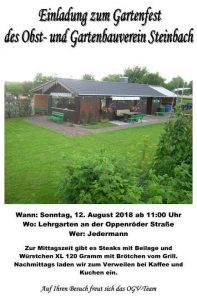 Gartenfest OGV Steinbach