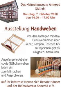 Ausstellung Handweben Annerod