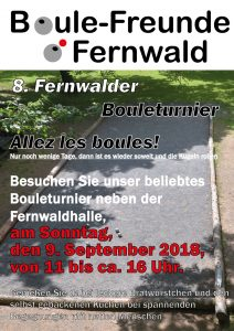 8. Fernwalder Bouleturnier der Boule-Freunde Fernwald