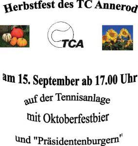 Herbstfest 2018 TC Annerod