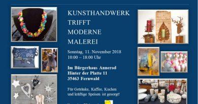 Kunst und Kreativmarkt Kunsthandwerk trifft moderne Malerei