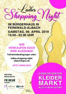 Ladies Shoppig Night