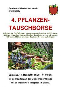 Obst- und Gartenbauverein Steinbach - 4. Pflanzentauschbörse