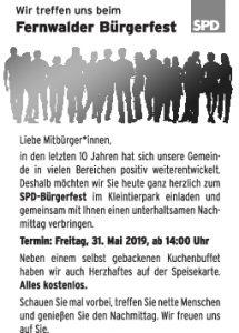 SPD Fernwald - Fernwalder Bürgerfest