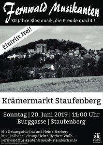 Platzkonzert auf dem Krämermarkt in Staufenberg
