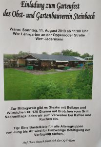Gartenfest OGV Steinbach 2019