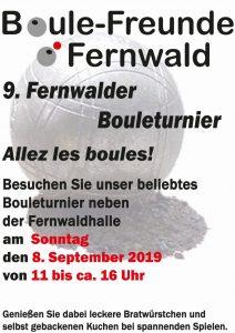 9. Fernwalder Bouleturnier