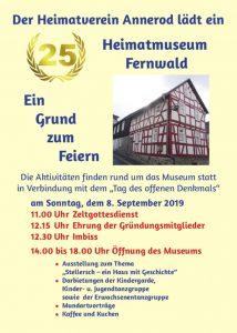 25-jähriges Bestehen des Heimatmuseums Annerod